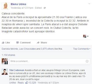 Elena Udrea contra terorismului
