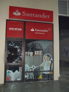 Attacked Santander bank
