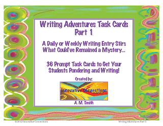 Writing Adventures Task Cards Part 1