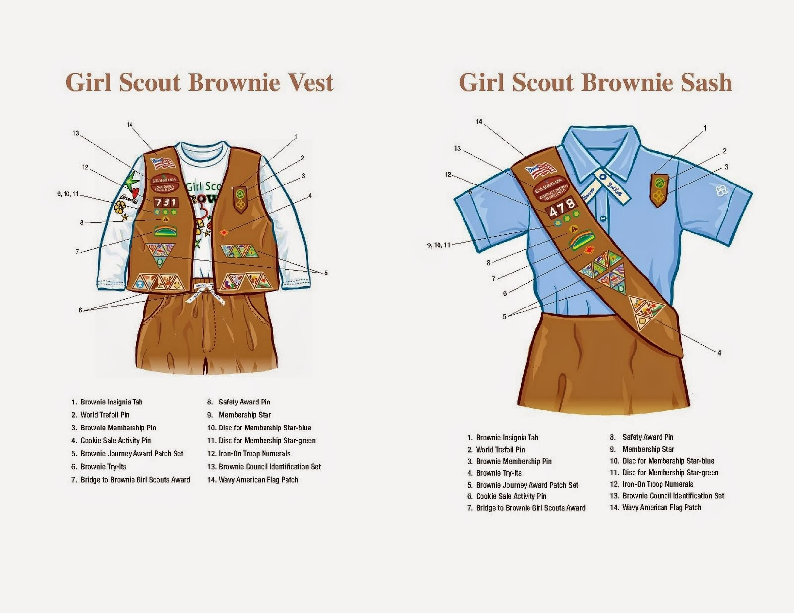 water tower girl scouts sash amp vest guides