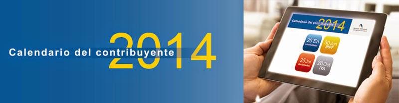 Calendario del Contribuyente 2014