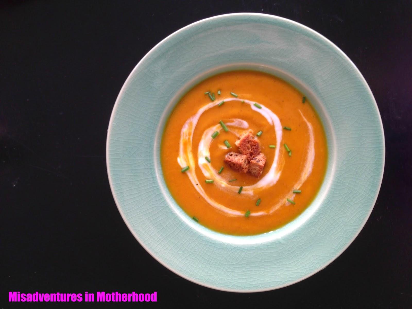 sweet potato red pepper soup