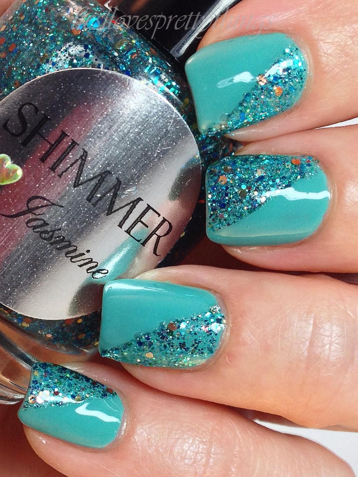 Shimmer Jasmine nail art