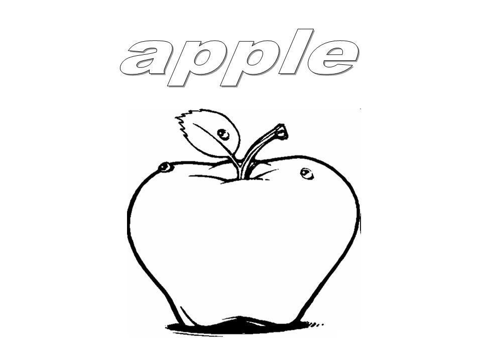 Fantástico Página Para Colorear De Una Manzana Adorno - Dibujos Para ...
