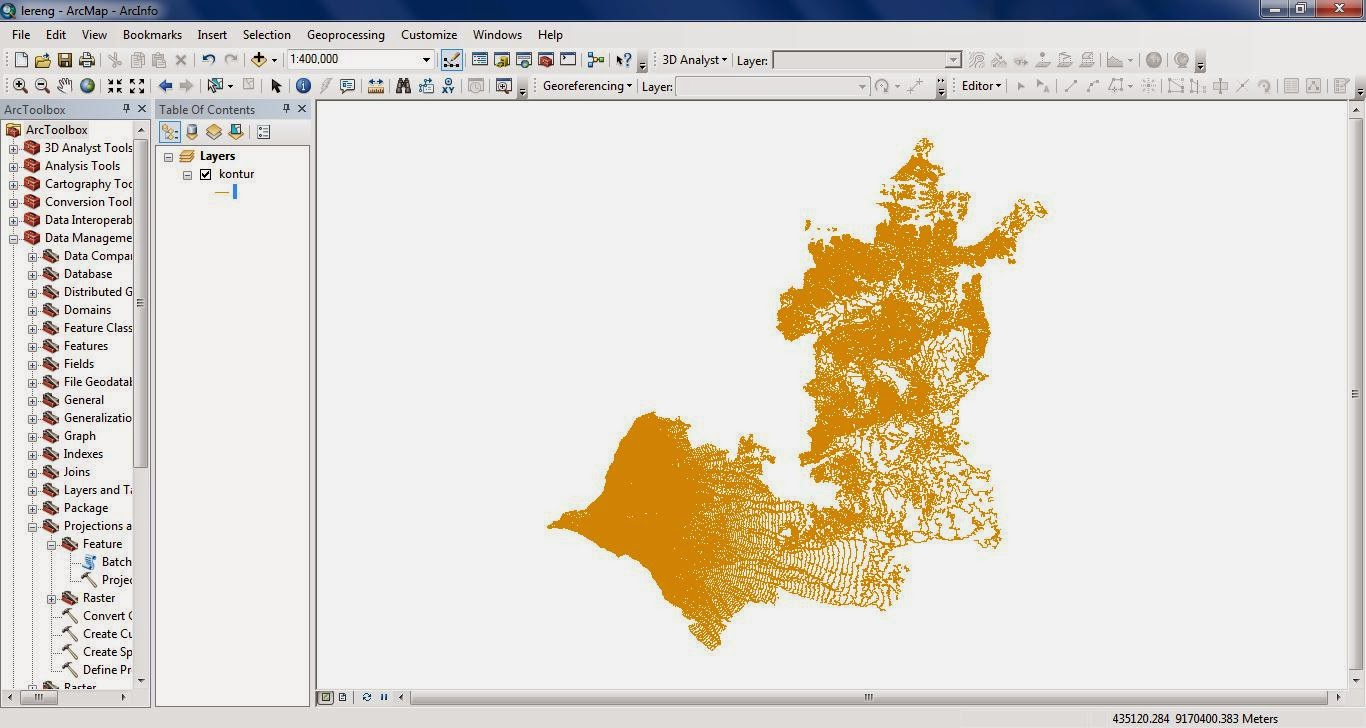 Membuat Peta Lereng di ArcGIS 10 ~ Air Itu Mengalir