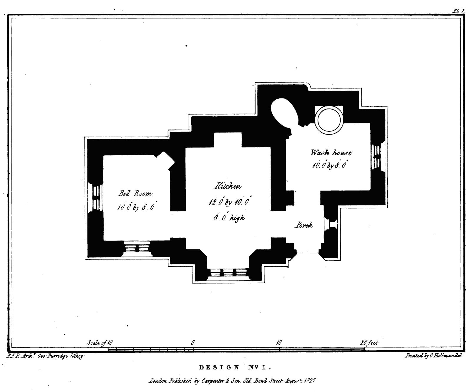 19th Century Historical Tidbits 1830 Farm Laborer s House Plans