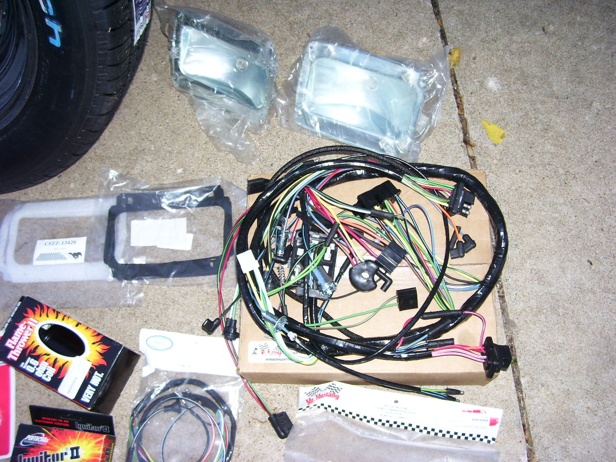 65 Mustang Restoration July 2011 Under Dash Wiring Harness New Tail Light Buckets Seals