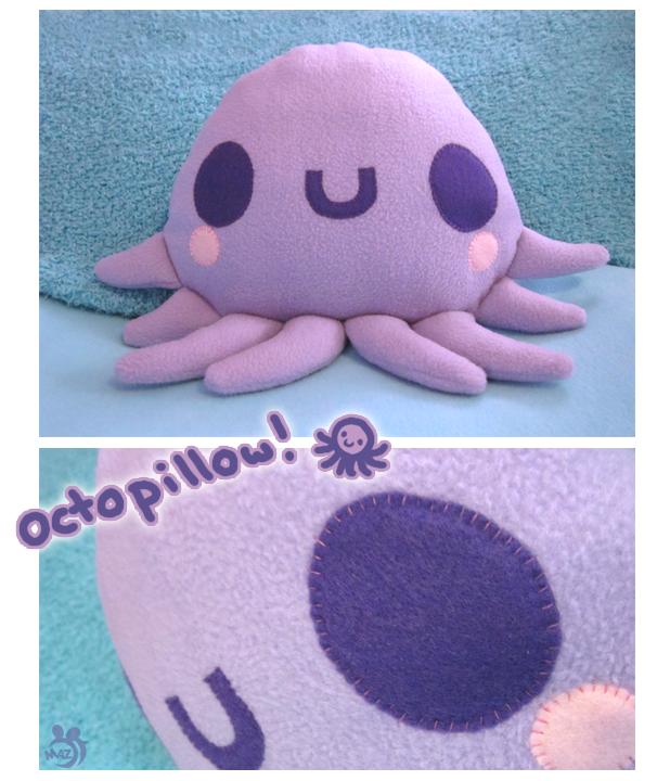 aline kawaii =^n_n^=: cojin o lindo peluche ^^ pulpo .:*octopillow*:.