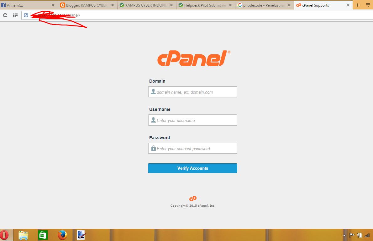 Download script scam page cpanel simple