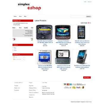 Simplex Eshop blogger template. online store template fr blog. online store template for blogger