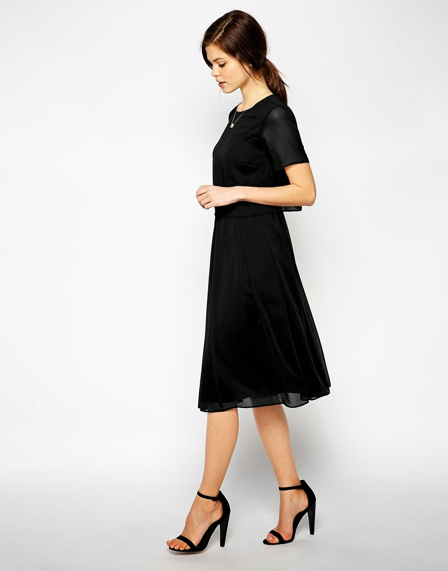 black t shirt dress, black sheer sleeve dress,