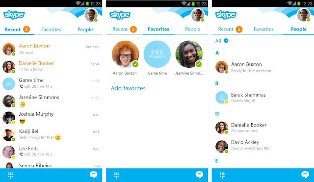 تطبيق سكايب 2016 للاندرويد