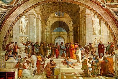 رسم  مدرسة اثينا