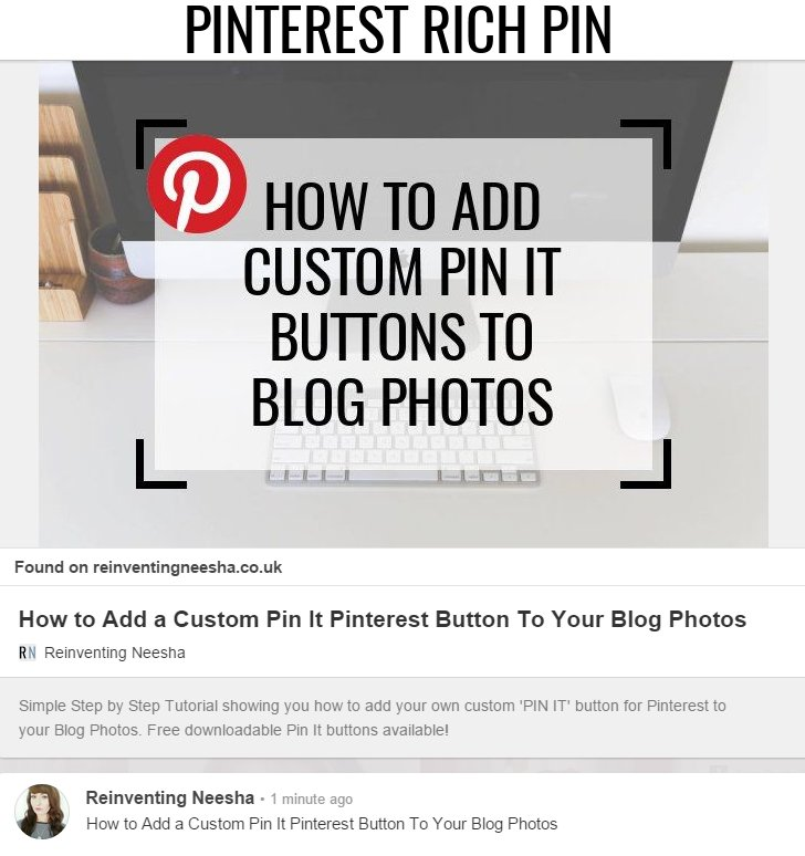 How to Enable Pinterest Rich Pins for your Blog -Pinterest Rich Pin