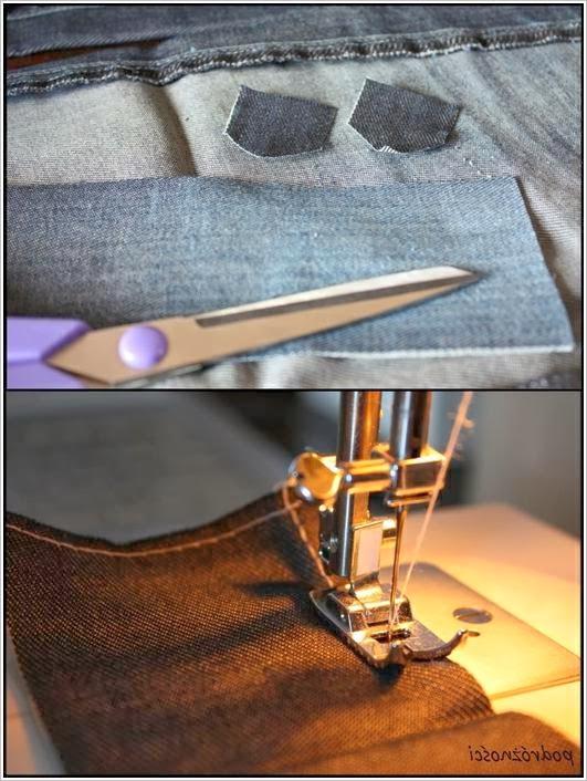 Карандашница - органайзер из джинсовки. Pencil holders - organizers of jeans