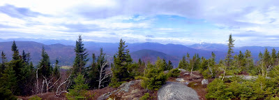 Panorama from Jay Mountain's western summit, Monday 10/20/2014.  The Saratoga Skier and Hiker, first-hand accounts of adventures in the Adirondacks and beyond, and Gore Mountain ski blog.