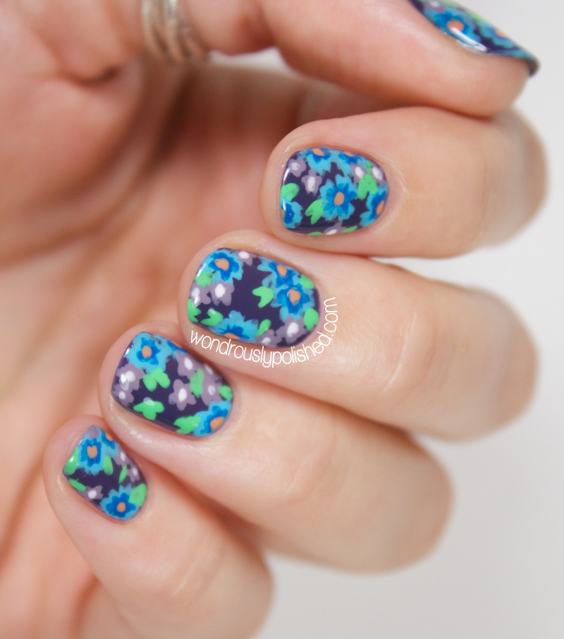 Flower Nail Art Tutorial: Wondrously Polished: Floral Fixation