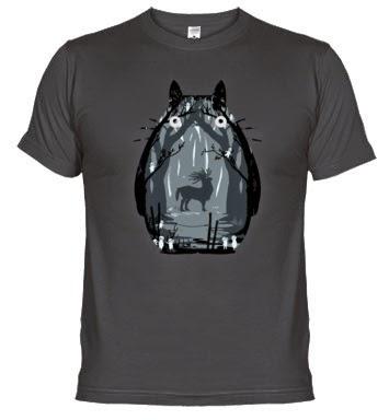 camiseta friki de Totoro