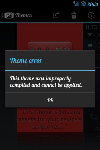Mengatasi Error Pada Theme Chooser