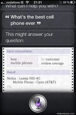 Siri Best Phone, Siri asked what is the best phone