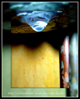 water droplet from boiler