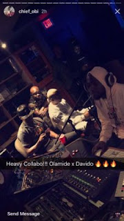 Olamide and Davido in the Studio