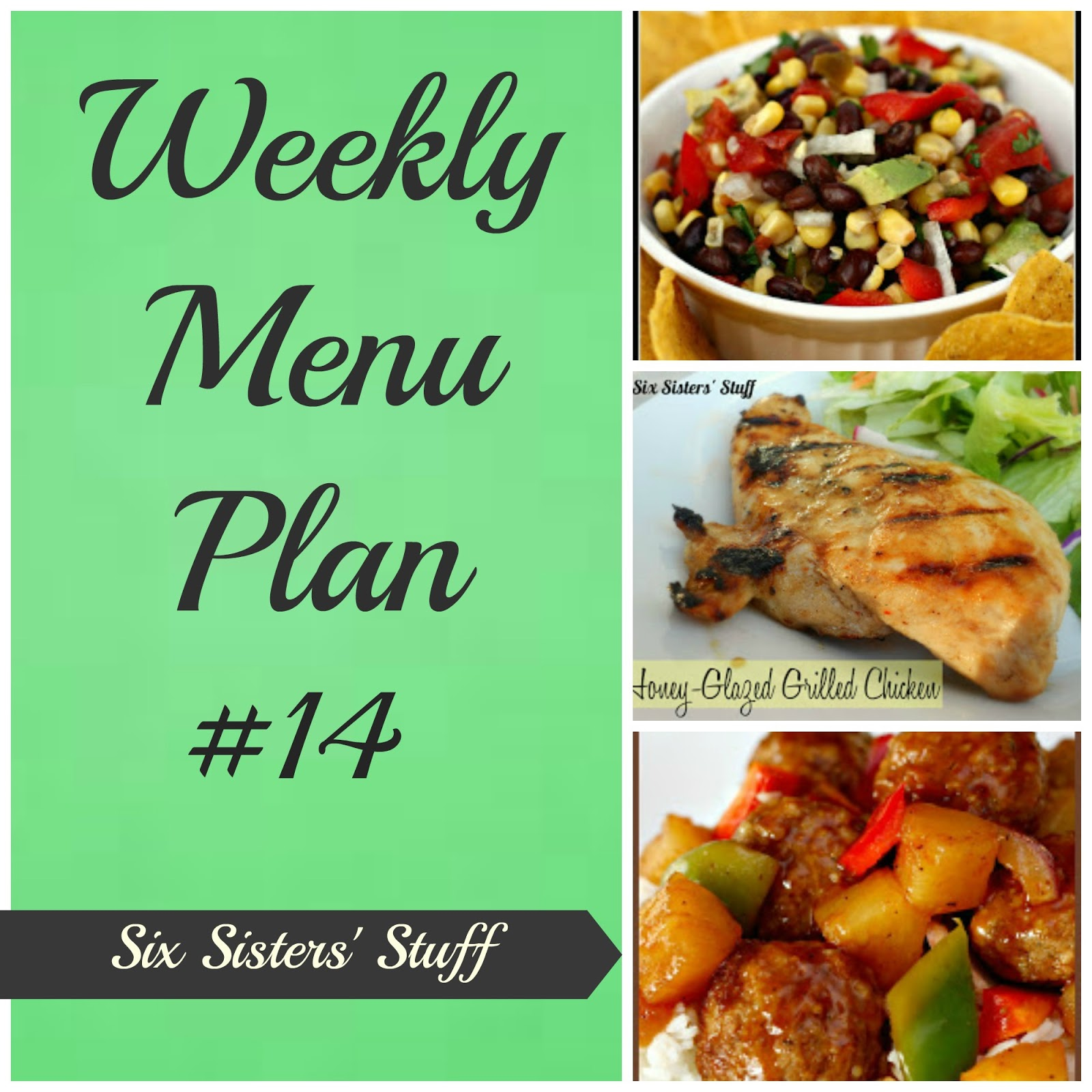 Six Sisters Weekly Menu Plan 14 Six Sisters Stuff