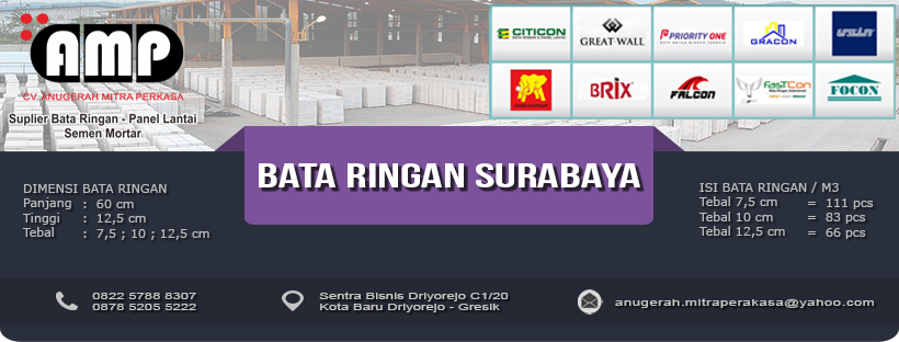 Supplier Bata Ringan Surabaya