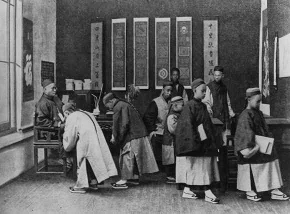 Niños en la escuela Hong Kong