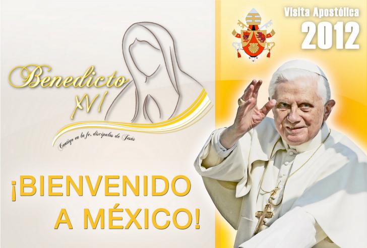 logo oficial de la visita de Benedicto XVI a México 2012