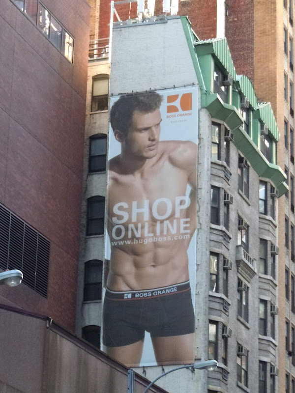 Hugo Boss underwear billboard NYC