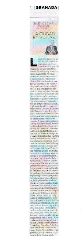MELCHOR SÁIZ-PARDO HABLA DE NOCHES EN BIB RAMBLA (IDEAL GRANADA)
