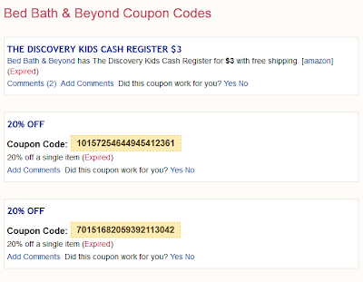 Bed Bath and Beyond 20 Off Coupons for 2013