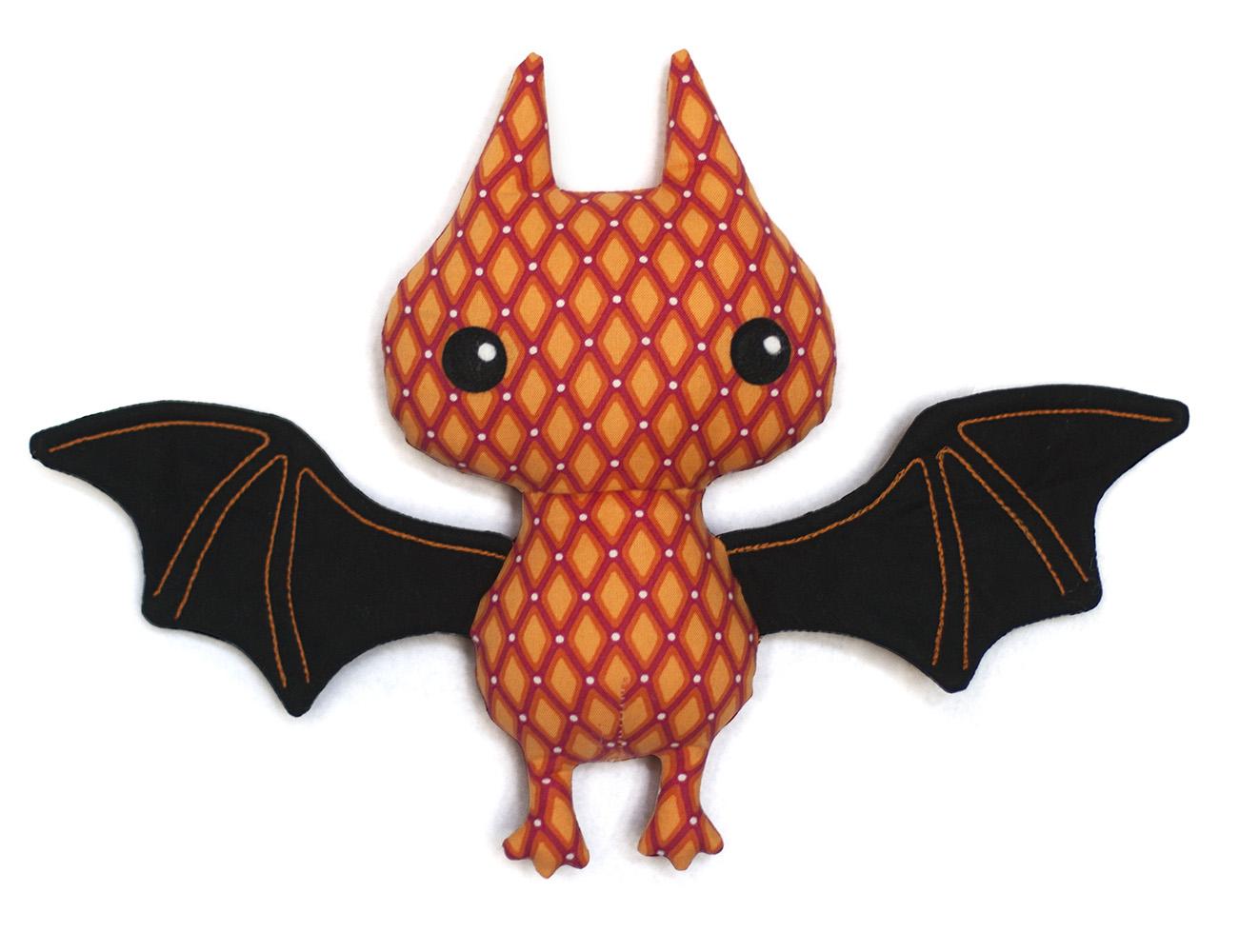 stuffed bat sewing pattern
