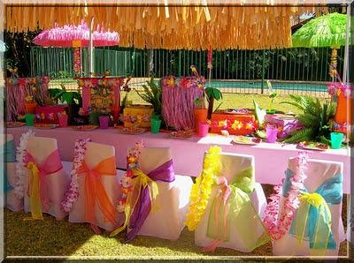 decoração para festas havainas