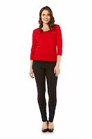 Bluza moderna, de culoare rosie, cu nasturei decorativi ( )