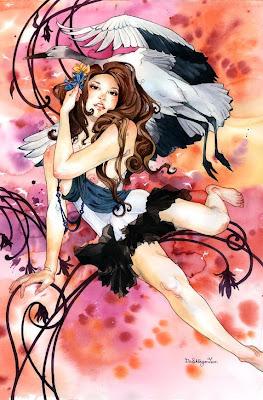 watercolor girl art