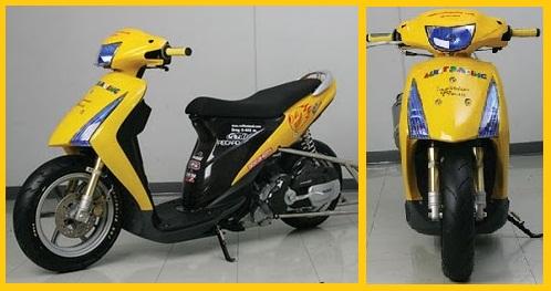 Modifikasi Motor Suzuki Spin Skuter Matik Racing.jpg