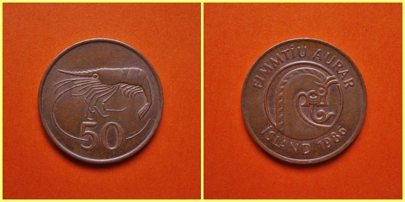 Moneda 0.50 Coronas Islandia