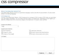 CSS Compressor-Optimize CSS