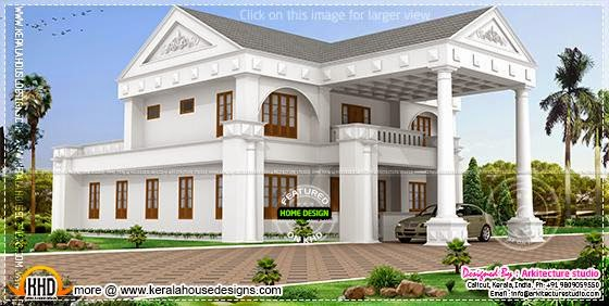 Modern two storied house