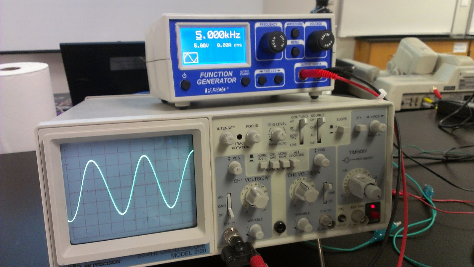 Function Generator And Oscilloscope : Engineering zkuang