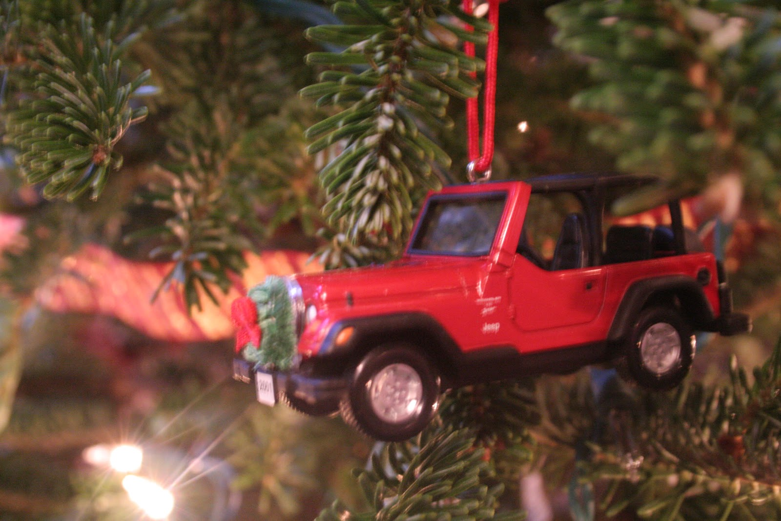 our stockings are hung by the chimney with care only 4 this year because i bailed on the stocking project but my fabric is so cute maybe ill show you - Jeep Christmas Decorations