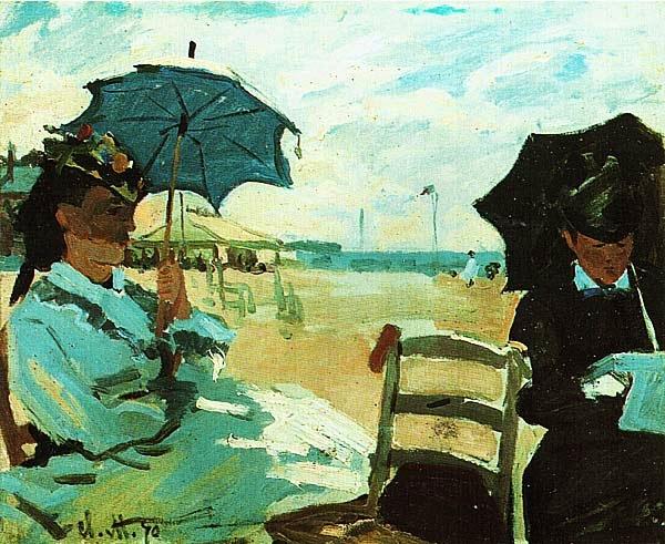 Клод Моне. Пляж в Трувиле. 1870.