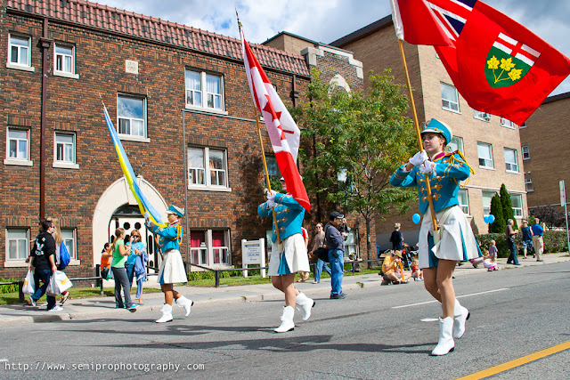 Parade During Ukrainian Festival in Toronto