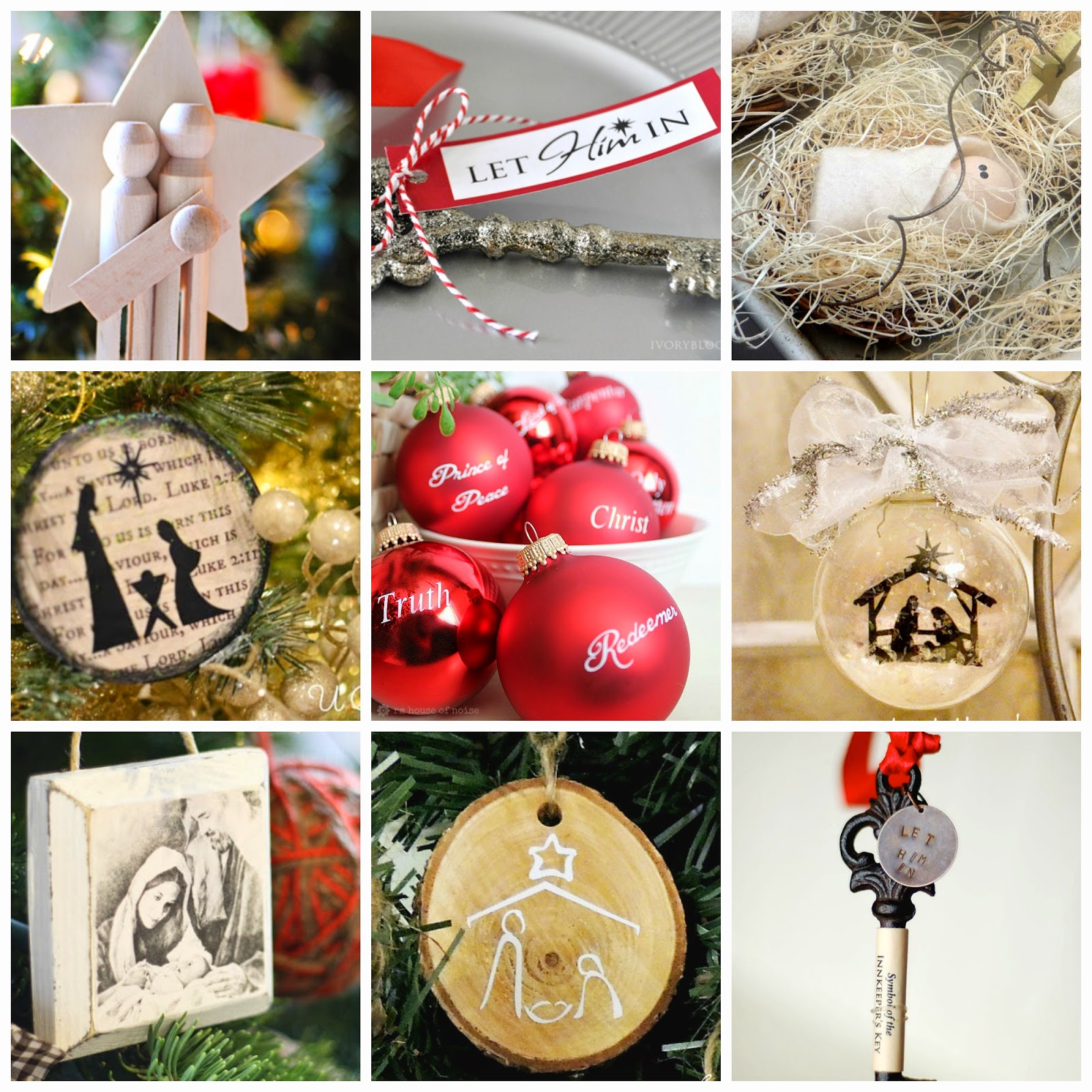20 Christ-Centered Ornaments with Tutorials