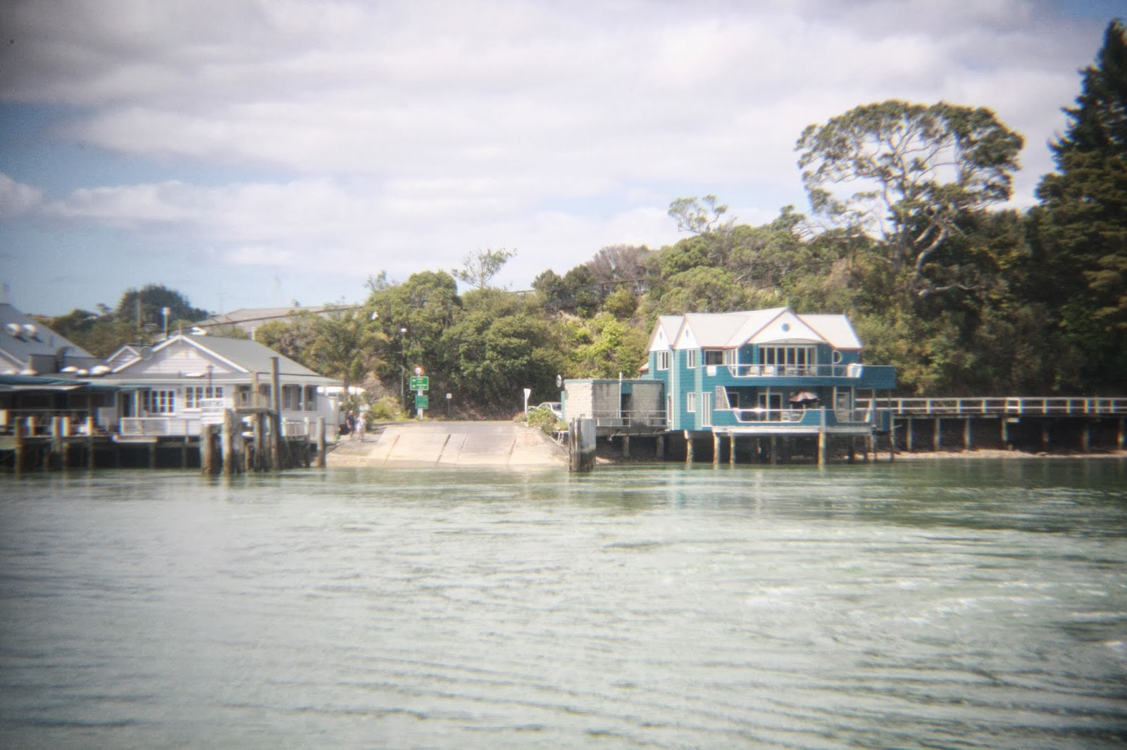 A shot from the ferry, just leaving Paihia.