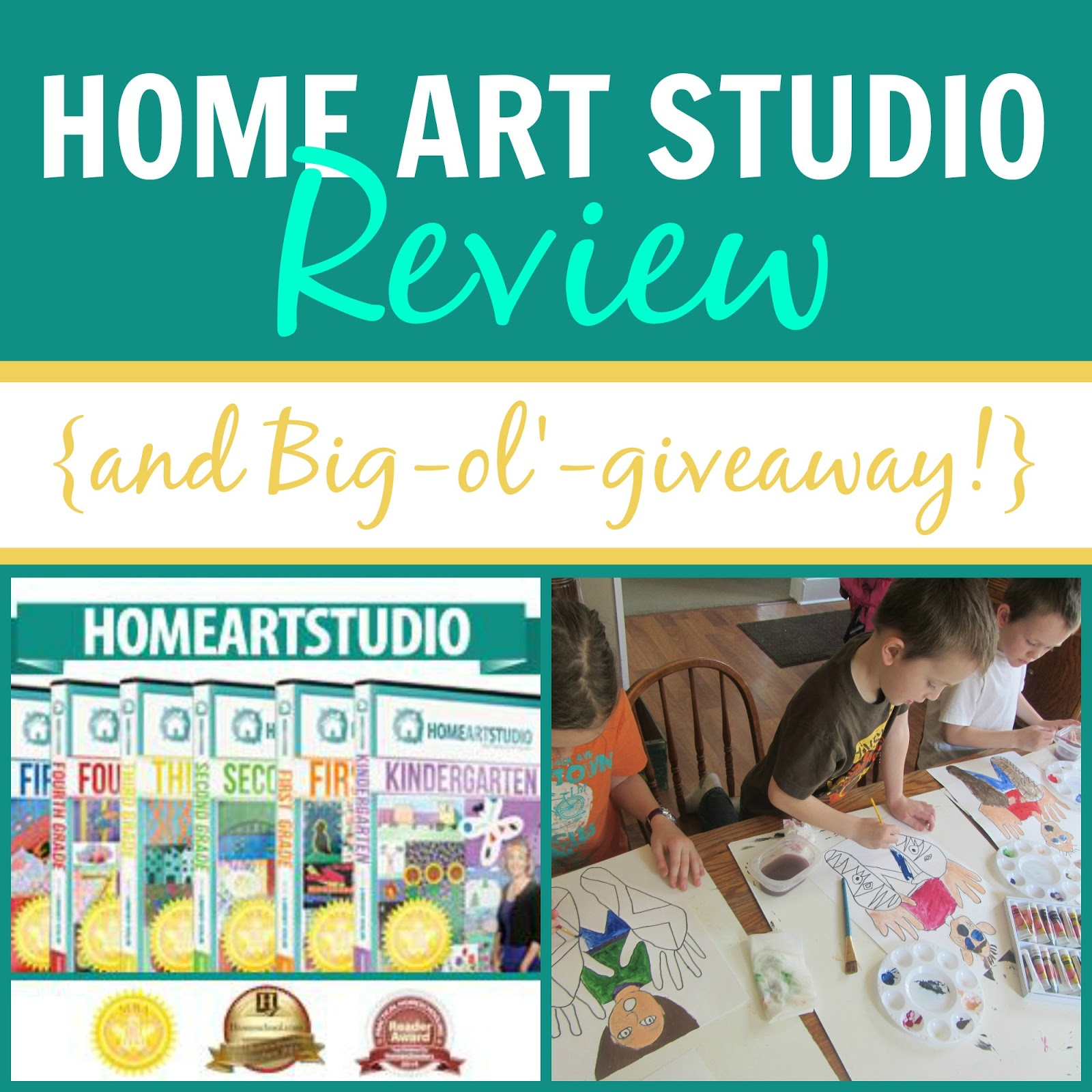 Home Art Studio: Review and Big-ol'-giveaway! {The Unlikely Homeschool}