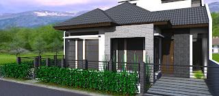 rumah minimalis di posisi hook tampak perspektif 1 rumah minimalis di ...