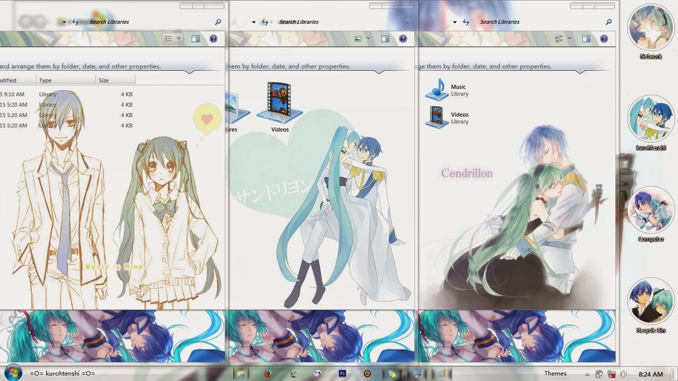 Gmail hatsune miku theme - Theme Description